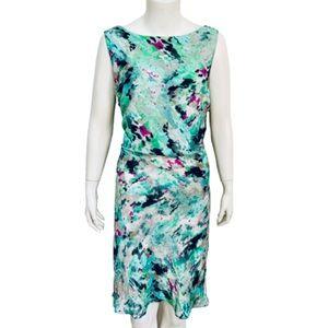 ANN TAYLOR   Petite Watercolor Blouson Dress 16P